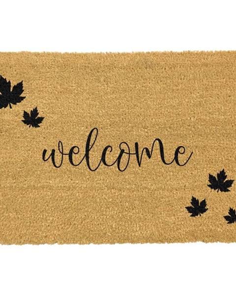 Artsy Doormats Čierna rohožka z prírodného kokosového vlákna Artsy Doormats Welcome Autumn, 40 x 60 cm