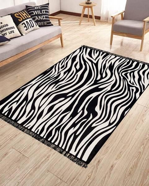 Kate Louise Obojstranný umývateľný koberec Kate Louise Doube Sided Rug Zebra, 80 × 150 cm