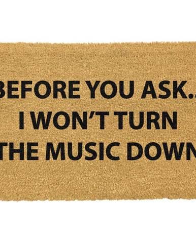 Rohožka z prírodného kokosového vlákna Artsy Doormats Loud Music, 40 x 60 cm