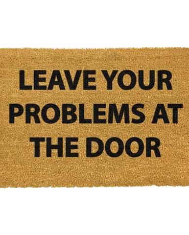 Rohožka z prírodného kokosového vlákna Artsy Doormats No Problems, 40 x 60 cm