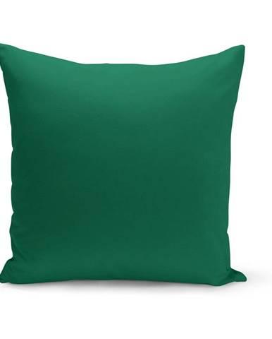 Zelený vankúš s výplňou Lisa, 43×43 cm