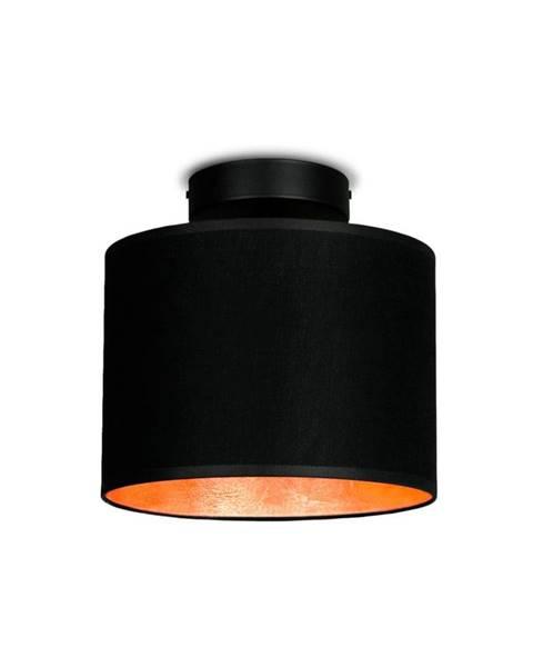Sotto Luce Čierne stropné svietidlo s detailom v medenej farbe Sotto Luce Mika Elementary XS CP, ⌀ 20 cm
