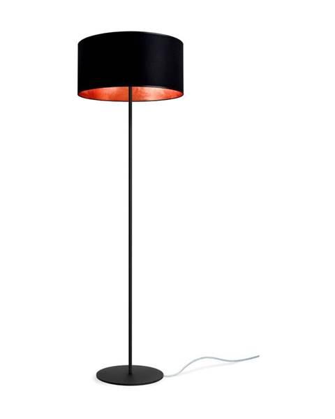 Sotto Luce Čierno-medená stojacia lampa Sotto Luce Mika, ⌀ 40 cm