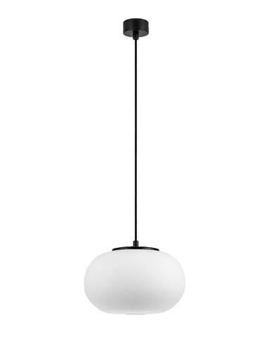 Biele závesné svietidlo s čiernou objímkou Sotto Luce DOSEI