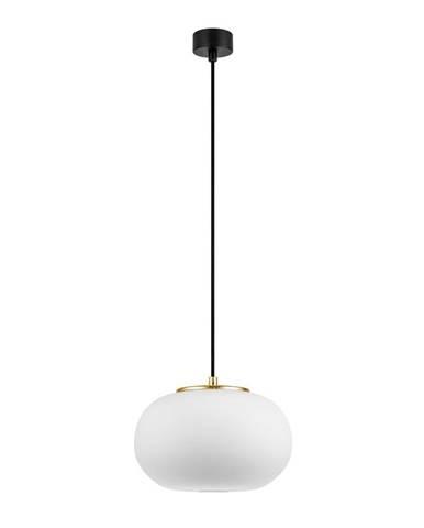Biele závesné svietidlo s objímkou v zlatej farbe Sotto Luce DOSEI