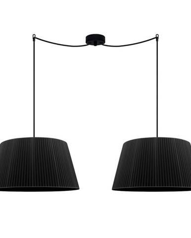 Čierne dvojramenné stropné svietidlo Sotto Luce KAMI Elementary L 2S