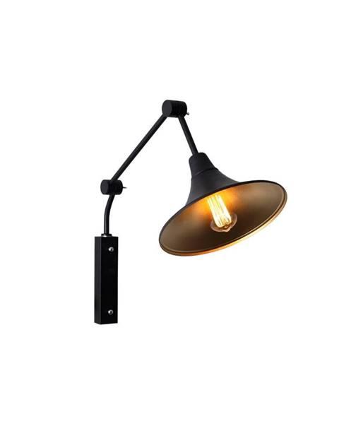 Custom Form Čierna nástenná lampa Custom Form Miller, ø 25cm
