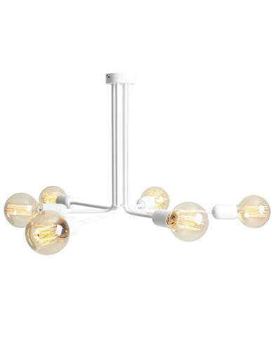 Biele závesné svietidlo na 6 žiaroviek Custom Form Vanwerk