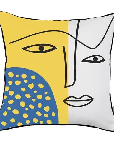 Obliečka na vankúš Mike&Co.NEWYORK Abstract Face, 43 × 43 cm