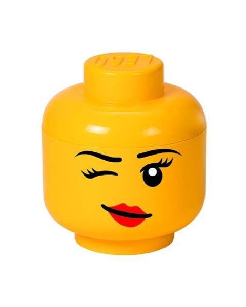 LEGO® Žltý úložný box v tvare hlavy LEGO® Winky, ⌀ 16,3 cm