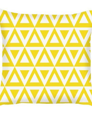 Žltá obliečka na vankúš Mike&Co.NEWYORK Triangle, 43 × 43 cm