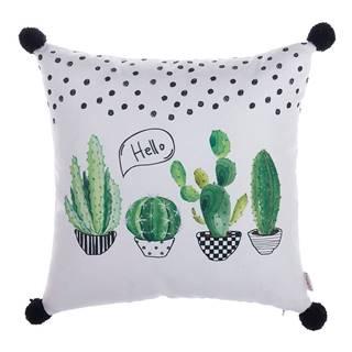 Obliečka na vankúš Mike&Co.NEWYORK Hello Cactus, 43 × 43 cm