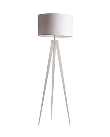 Biela stojacia lampa Zuiver Tripod, ø 50 cm