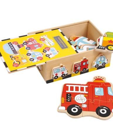 Drevené puzzle Legler Vehicles