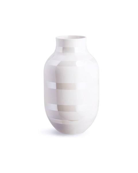 Kähler Design Biela kameninová váza Kähler Design Omaggio, výška 30,5 cm