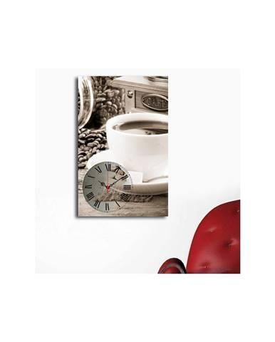 Obrazové hodiny Šálka kávy, 45×70 cm