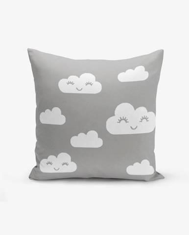 Obliečka na vankúš s prímesou bavlny Minimalist Cushion Covers Grey Background Cloud, 45×45 cm