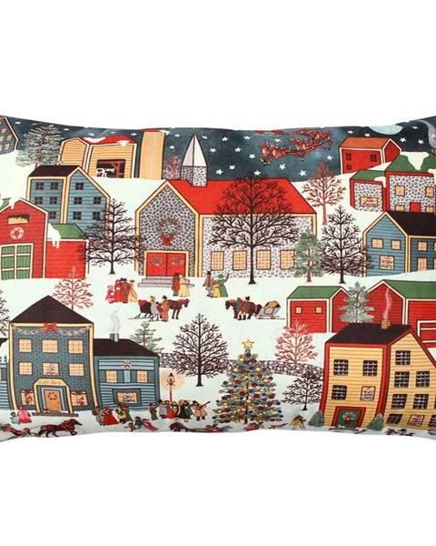 Gravel Vankúš City in Snow, 33 × 48 cm