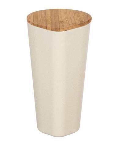 Béžový úložný box s bambusovým vekom Wenko Derry, 1 l