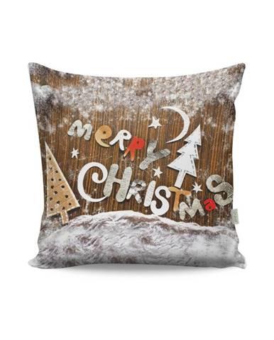 Vankúš Merry Christmas, 43×43 cm