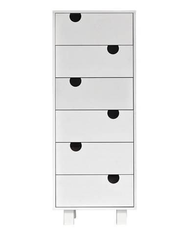 Komoda so šiestimi zásuvkami Karup Design HoWhite/White