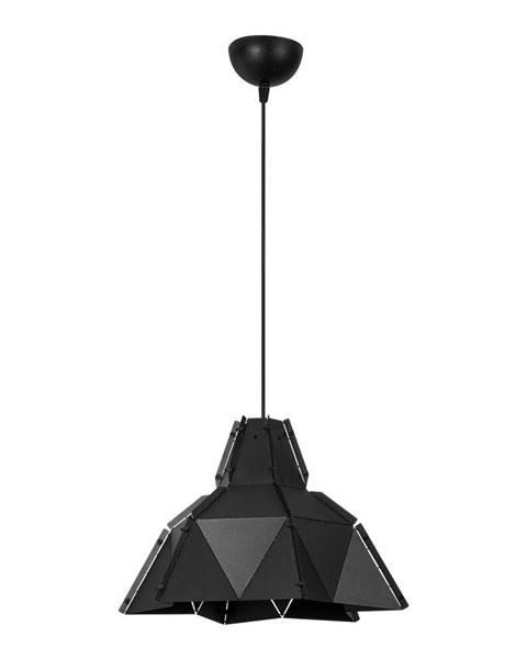 Opviq lights Čierne kovové závesné svietidlo Opviq lights Samantha