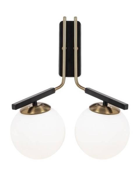 Opviq lights Čierne kovové nástenné svietidlo Opviq lights Tina