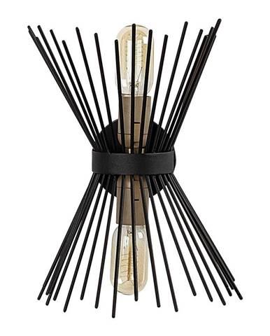 Čierne kovové nástenné svietidlo Opviq lights Glykera