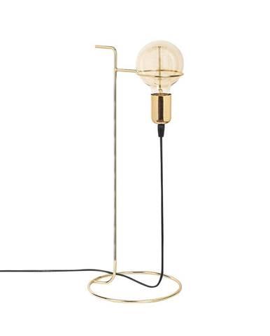 Kovová stolová lampa v zlatej farbe Opviq lights Ersi