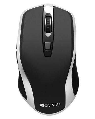 Myš  Canyon CNS-Cmsw19b s bezdrátovým nabíjením čierna/strieborná