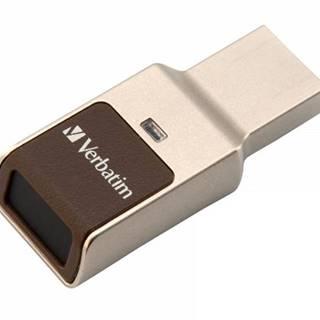 USB flash disk Verbatim Fingerprint Secure, 64GB strieborný