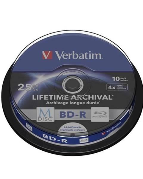 Verbatim Disk Verbatim Printable BD-R M-Disc 25GB, 4x, 10-cake