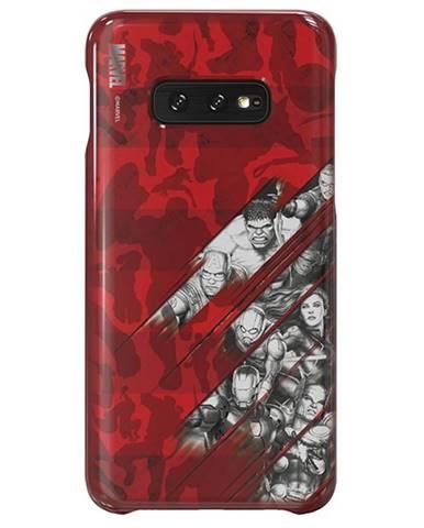 Kryt na mobil Samsung Avengers Comics na Galaxy S10e červený