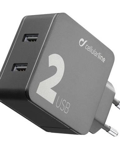 Nabíjačka do siete CellularLine Multipower 2, Smartphone detect, 2