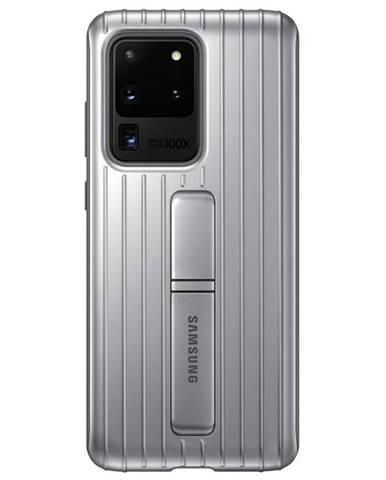 Kryt na mobil Samsung Standing Cover na Galaxy S20 Ultra strieborný