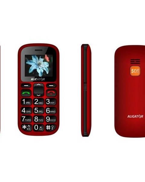 Aligator Mobilný telefón Aligator A321 Senior Dual SIM čierny/červený