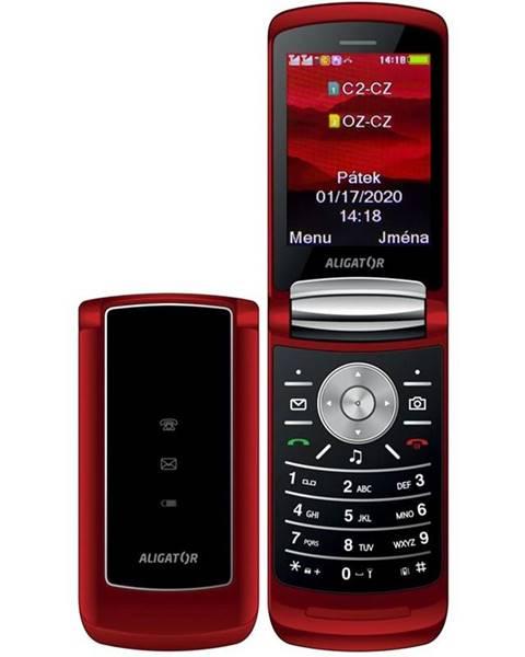 Aligator Mobilný telefón Aligator DV800 Dual SIM červený