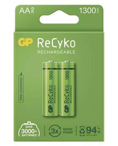 Batéria nabíjacie GP ReCyko, HR06, AA, 1300mAh, NiMH, krabička 2ks
