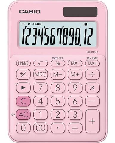 Kalkulačka Casio MS 20 UC PK - světle růžov