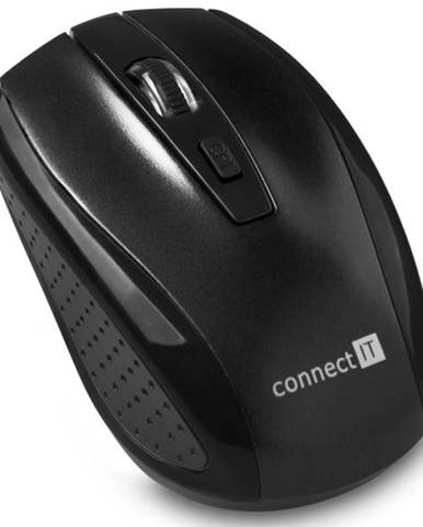 Myš  Connect IT CI-1223 čierna / optická / 4 tlačítka / 1600dpi