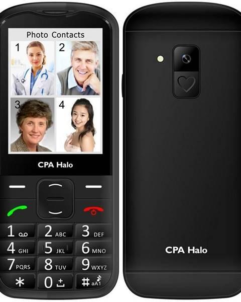 CPA Halo Mobilný telefón CPA Halo 18 Senior s nabíjecím stojánkem čierny
