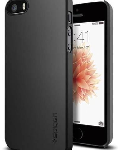 Kryt na mobil Spigen Thin Fit Apple iPhone SE/5s/5 čierny