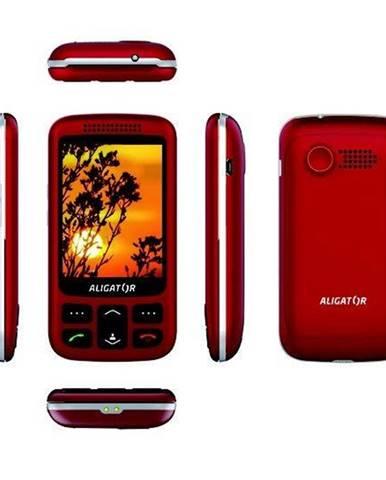 Mobilný telefón Aligator VS 900 Senior Dual SIM strieborný/červený