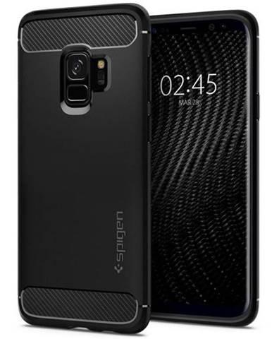 Kryt na mobil Spigen Rugged Armor na Samsung Galaxy S9 čierny