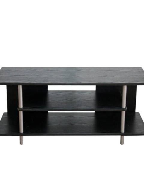 Kondela TV stolík čierna/strieborná QUIDO