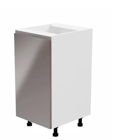 Spodná skrinka biela/sivá extra vysoký lesk ľavá AURORA D40