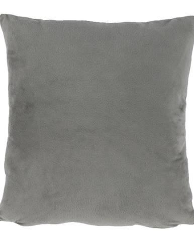 Vankúš zamatová látka sivohnedá Taupe 45x45 ALITA TYP 3