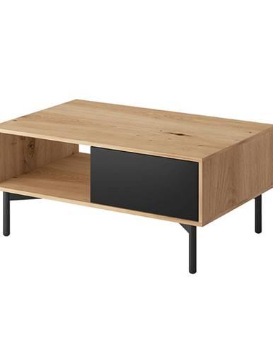 Konferenčný stolík FL 102 dub artisan/čierna FORSO