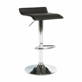 Barová stolička ekokoža hnedá/chróm LARIA NEW
