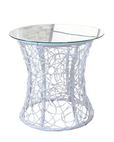 Príručný stolík biela SALMAR NEW